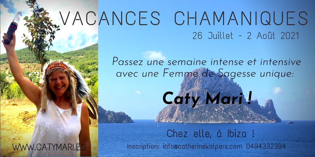 Vacances chamaniques avec Caty Mari à IBIZA cet été !